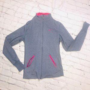 Women's Nike Gray & Pink Dri-Fit Full Zip Jacket M